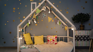 Check out ideas for a bed for a children's room